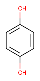 Chemistry drawing of the Hydroquinone molecule